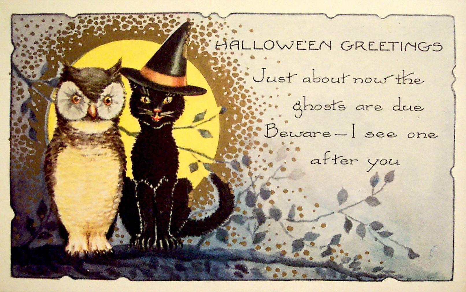 Free vintage halloween i halloween e card free vintage halloween i m4hsunfo